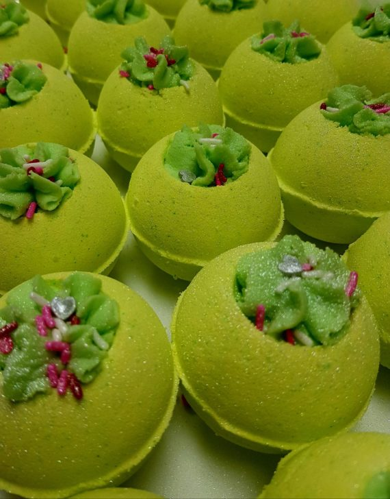 Cucumber Melon bath snowballs by SoGa